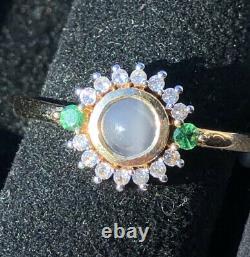 0.75ct Cats Eye Alexandrite, Garnet, Zircon 9ct Gold Ring. Size P/Q BNWT Ltd Edn