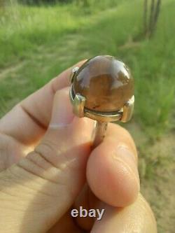 100% Natural Yemeni Black Gray Agate Aqeeq Silver Evil Protection SUFI Ring