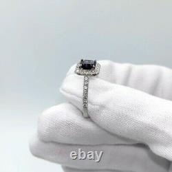 14K White Gold 1.73 tcw Dark Grey Spinel Diamond Ring SEE VIDEO with Appraisal