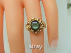 14k yellow gold star sapphire ring size 4 1/2