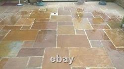 18.5m2 Natural Indian sandstone Paving KANDLA GREY patio slabs 22mm Calibrated