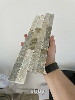 4 Sqm Of Oyster 3D Split Face Natural Slate Wall Tiles