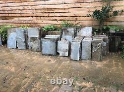 50 sqm garden patio slabs used grey 20-30mm thick 600mm wide various lengths