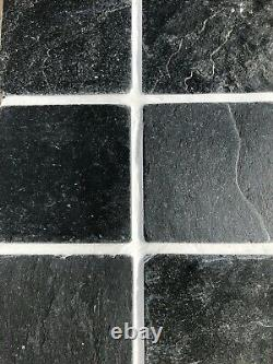 500 x Natural Slate Tiles 100mmx100mm