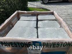 80 x Pavestone Denby Tudor Cobble Grey Natural Stone Paving Slabs size 400 x 300