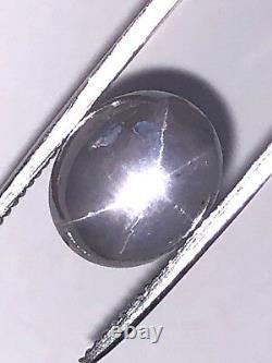 9.88 Ct Natural Bluish Grey Star Sapphire Cabochon Loose Gemstone