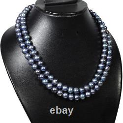 AAA+ Multi Color Round Peacock Tahitian Cultured 550Ct/18 Pearl Necklace Strand