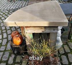 Beautiful Bespoke Corner Hearthstone Hearth Grey York Stone Made To Size #SM9