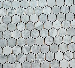Bees Mosaic 30, 5x30, 5cm Marble White Gray Natural Stone Tile WJ-10