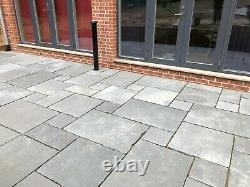 CLEARANCE Grey Limestone Paving Natural Indian patio SAWN slabs 22mm Calibrated