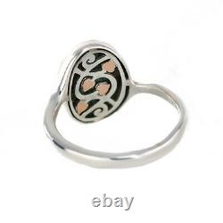 Clogau Silver Ring Size N Heart of Wales Tree of Life Welsh Rose Gold3STLPBR/N