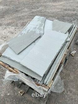 EM Silver Grey Riven 15m2 Indian Sandstone Patio Pack (Breakages) 22mm Calibrate