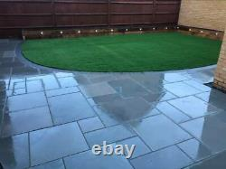 EM Silver Grey Smooth Indian Sandstone 20mm Mixed Sizes 7.7. M2