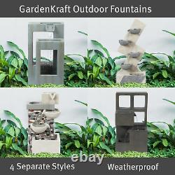GardenKraft Outdoor Fountains / 4 Separate Cascading Water Features