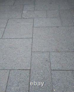 Grey Granite Paving Slabs, Patio Pack, Mixed Sizes, 45 Sq m Approx, Reclaimed