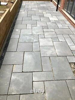 Grey Limestone Paving Natural Indian patio slabs 22mm Calibrated