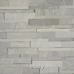 Grey Sandstone Wall Cladding Decorative Mosaic Tiles Interior Wall Panel 12.96m2