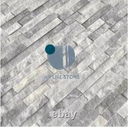 Ice Silver Grey Split Face Quartzite Tiles