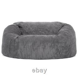 Icon Giant Bean Bag Cord Love Seat Luxury Snuggle Chair Two Seater Beanbag