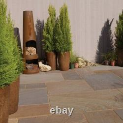 Indian Blended Sandstone Natural Paving Slabs Rustic Grey Garden Patio Stones AA