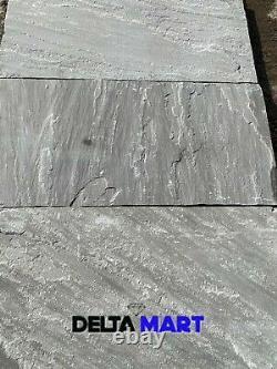 Indian Kandla Grey patio pack Paving Slabs 22mm calibrated Premium A-Grade