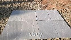 Indian Sandstone Kandla Gray Paving patio pack 20.25sqm Next day Calibrated H/c