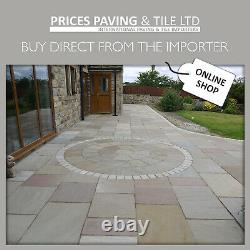 Indian Sanstone Paving RAJ GREEN Flags Setts Circle kits Samples 2 DAY DELIVERY