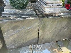 Indian sandstone paving grey