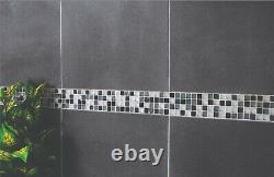JOB LOT 15m2 Honed Dark Grey Black Basalt Stone Floor Tiles 400x400x12mm