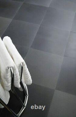 JOB LOT 22m2 Grey Honed Smooth Basalt Stone Floor Tiles Large Format 600x900mm