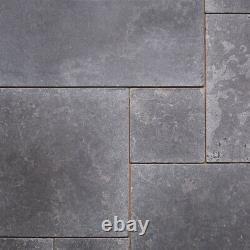 JOB LOT 28m2 Milly Grey Tumbled Limestone Stone Floor Tiles OPUS PATTERN