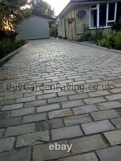 Kandla Grey Cobble Setts Natural 200x100 40mm+ Outdoor Driveway Paving Edging