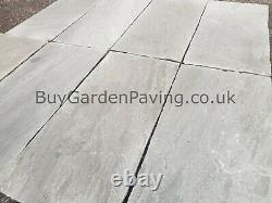 Kandla Grey Indian Stone Paving Slabs 22mm 600x290 17m2 Pack Natural Grey