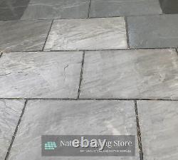 Kandla Grey Sandstone paving Natural Indian Patio slabs 22mm Calibrated 600x900