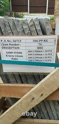 Kandla Grey Sandstone paving Natural Indian Patio slabs 22mm various sizes
