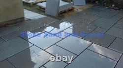 Kandla Grey Smooth 900x600 Paving Slabs 18m2 Pack Sawn Honed Sandstone 3x2
