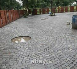 Kandla Silver Grey sandstone Natural paving patio Cobble setts 100x100x40-60mm