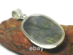 LABRADORITE Sterling Silver 925 Gemstone PENDANT Gift Boxed