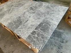 Marble Tiles, Azul Grey Honed Marble Tile, Floor / Wall, Limestone Natural Stone