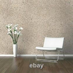 Modern Pearl Cream Big Chip Natural Real Mica Stone Wallpaper Plain Textured