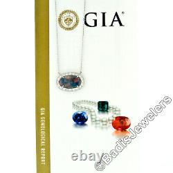 NEW Platinum 6.4ctw GIA Oval Cabochon FIERY Gray Opal Round Diamond Halo Pendant