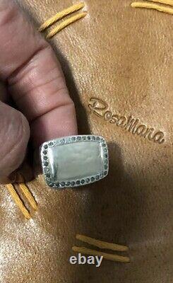 NWOT Sterling silver and diamond Lebanese Designer Rosa Maria Lulu ring sz 7.5