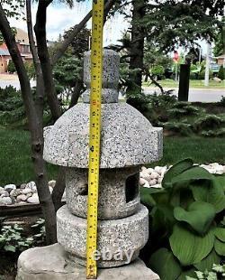 Natural Granite Hand-cut Japanese Lantern-Misaki D30cm
