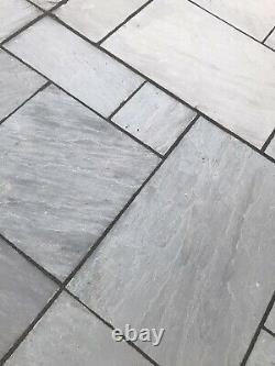 Natural Paving Classicstone Sandstone Promenade Patio Paving Slabs Grey 8M² 24mm