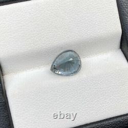 Natural Unheated Grey Spinel 3.01 Cts Pear Cut VVS Sri Lanka Loose Gemstone