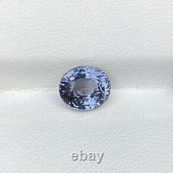 Natural Unheated Grey Spinel 3.11 Cts Oval Cut Loose Gemstone VVS Sri Lanka