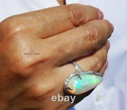 Opal Ring Gold Diamond Natural 16.22CTW GIA Certified RETAIL $16100