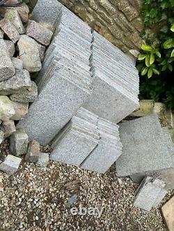 Reclaimed Flamed Granite Paving/Flooring 15.21 Square metres 25mm calibrated