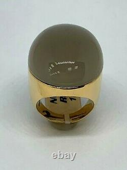 Roberto Coin 18k Yellow Gold Large 30mm Chrystal & Mother Of Pearl Coctail Ring