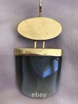 SASA JEWELRY 14k Gold Pendant Moonstone & Blue Mountain Jasper Fine Handmade